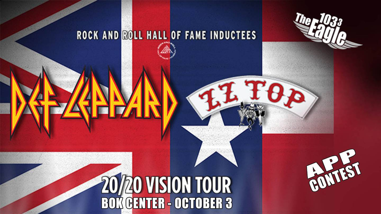 103.3 The Eagle Def Leppard + ZZ Top VIP App Contest (Ends 09-29-2020)