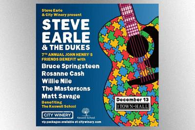 Bruce Springsteen to perform at autism charity concert hosted by Steve Earle in December in NYC